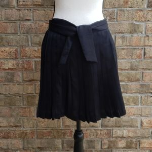 Pleated Circle Gap Skirt with Sash Size 0